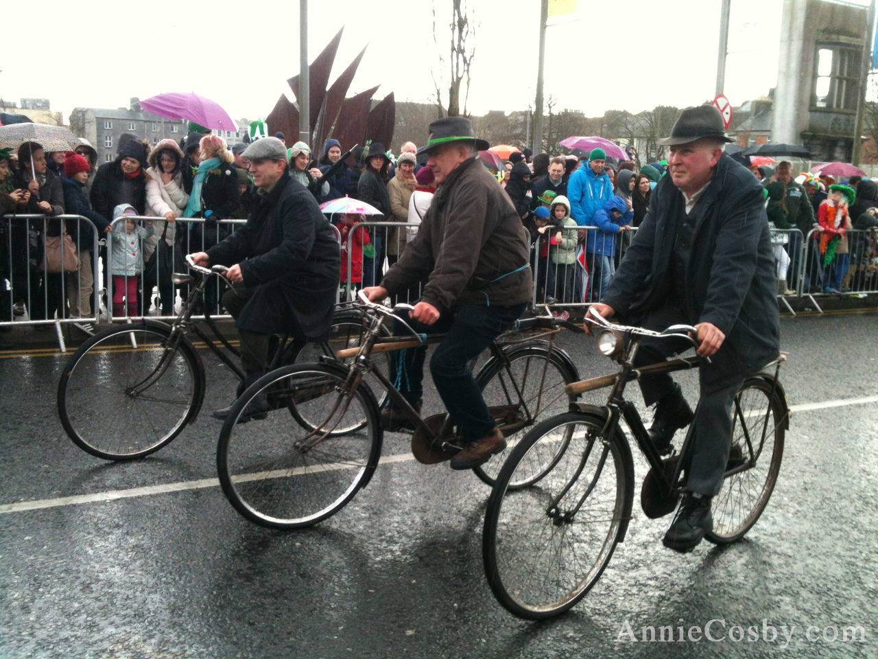 Old Irish Men on bikes