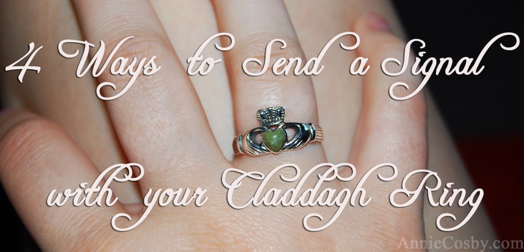 Claddagh signals how to wear it galway, Ireland