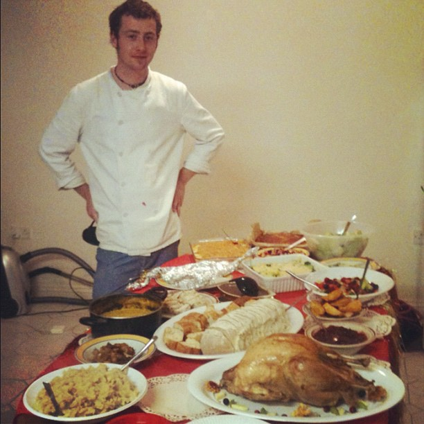 Thanksgiving feast in Ireland