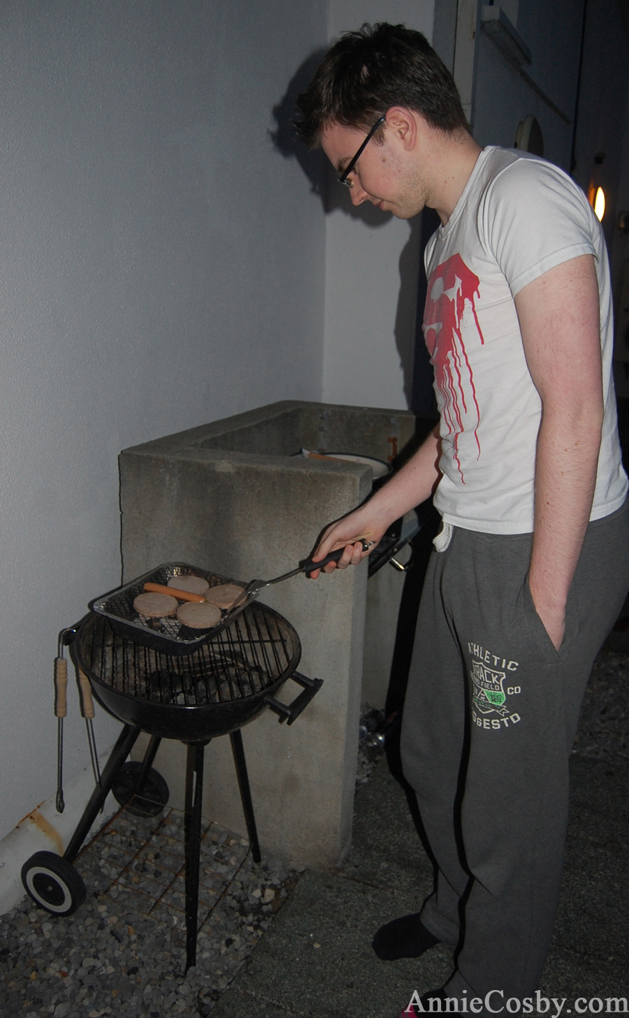 Irish boy grill master